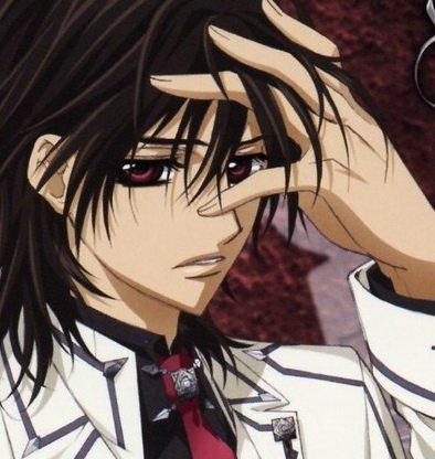 Kaname Kuran from vampire knight.He was born into the royal vampire family.