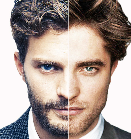 a combo of Jamie and Robert with facial hair<3