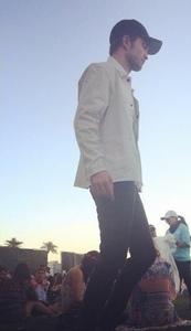 my babe outside at Coachella<3