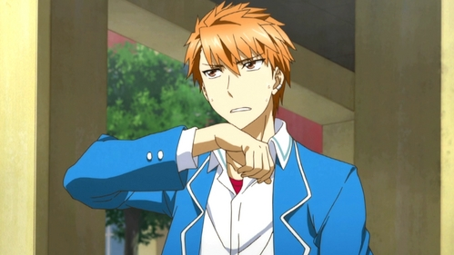 Kazama from D-Frag. Since he is the only normal person at this school, he is always ibingiay reactions and points out everyone's insanity, and it is just hilarious