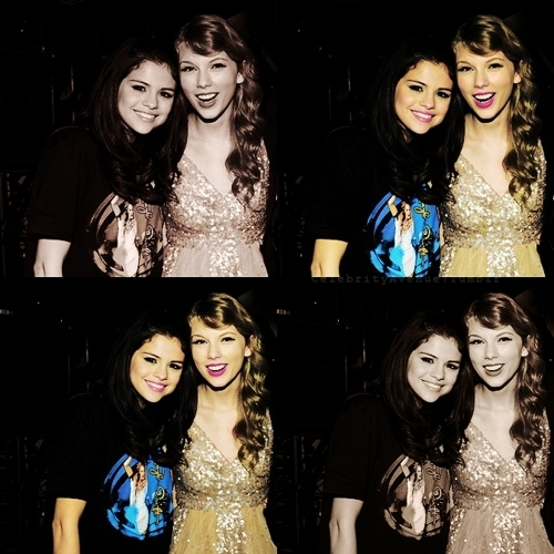 an edited pic of tay and sel....