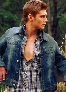 Jensen in a blue jean jacket<3