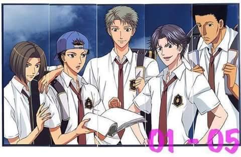 Ryou Shishido (the cap), Choutarou Ootori (silver hair) & Keigo Atobe (purple) in Prince of 网球 <33333