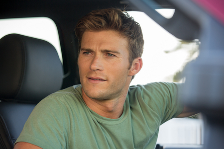 Scott inside a car<3