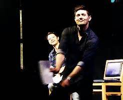 Misha's killing me in the background হাঃ হাঃ হাঃ