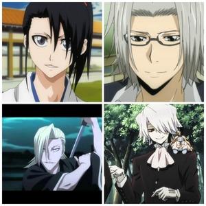 Young Byakuya Kuchiki (Bleach XD) Gokudera Hayato (Katekyo Hitman Reborn :3) Izuru Kira (Bleach *creepy*) Xerxes Break (Pandora Hearts)
