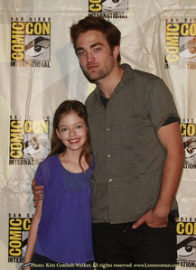 my babe with Mackenzie Foy,who played his daughter in BD part 2<3