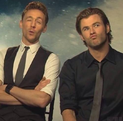 Hemsworth and Hiddleston:)