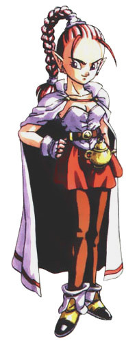Flea from Chrono Trigger. A man so genderly confusing, even he doesn't know his own gender