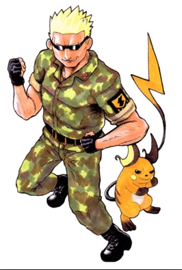 Lt.Surge/Matis from Pokemon?..Hopefully he counts.