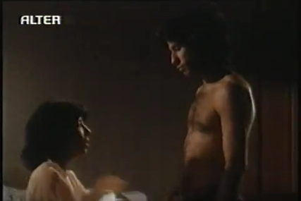 John with a woman in the film, Moment oleh Moment 1978 :)