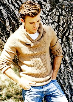 Scott wearing a tan jumper<3