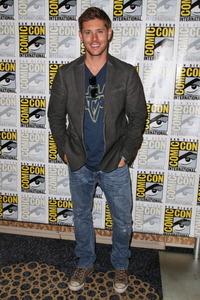 Jensen wearing jeans