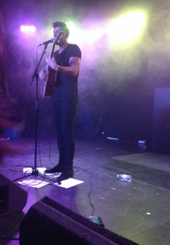 Jake Quickedenden picture I took when he came to glasgow on tour <3