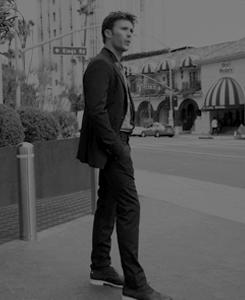 Scott wearing shoes<3