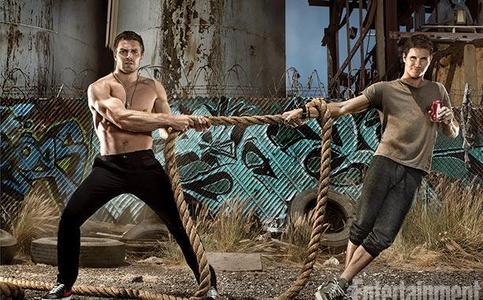 Stephen without a shirt...but they should both be without shirts<3