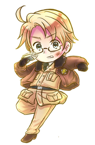 Naw, he&#39;s a perfect example of a stereotypical American. (>~<) Image source: http://nessiemccormick.deviantart.com/art/Hetalia-America-in-action-330757380