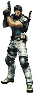 Chris Redfield from Resident Evil, Resident Evil CODE: Veronica, Resident Evil Umbrella Chronicles, Resident Evil Revelations, Resident Evil 5 and Resident Evil 6.