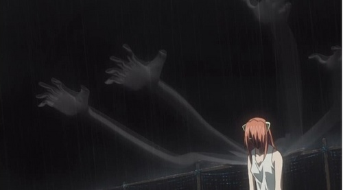 Lucy, including all Diclonius, have multiple invisible arms in Elfen Lied