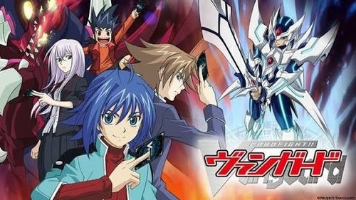 I recommend Cardfight Vanguard and make her engaged into it. If not, then Lucky तारा, स्टार should be appropriate.