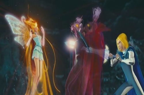 bloom kingdom sparks was saved par sky efforts when he saved bloom from three ancestor witches and beat them the kingdom of spark came back and they were out of portal of darkness ou like that and once plus in season 5