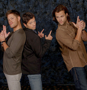 Jensen,Misha and Jared...the male version of Charlie's Angels...or should I Sara's hotties?