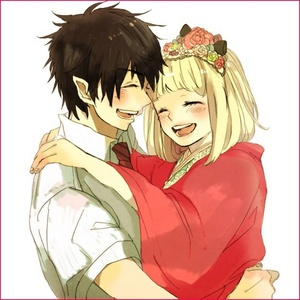 1 ~ Gray and Juvia from Fairy Tail 2 ~ Rin and Shiemi from Blue Exorcist ((picture)) 3 ~ Yukina and Kisa from Sekaiichi Hatsukoi
