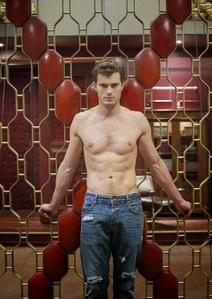 Jamie in Christian Grey's jeans<3