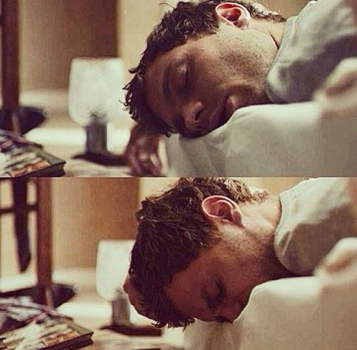 Jamie sleeping<3