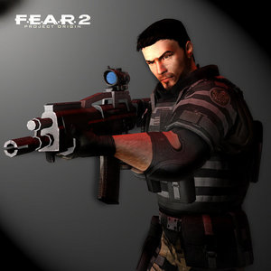 Becket from F.E.A.R game series. It has 3 games. Now, I recommend 당신 play FEAR if 당신 like First person shooter action games.