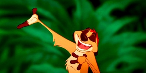 My favourite movie is The Lion King and my favourite character from the movie is Timon.