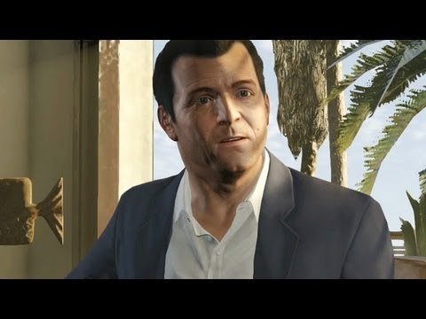Michael De Santa from GTA V. Proof that money really can't buy happiness. If anything, he's even 더 많이 miserable