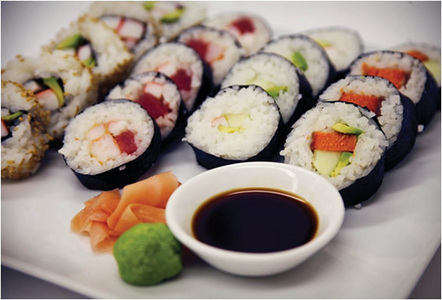 I am really in the mood for sushi right now. Wait, I'm always in the mood for sushi. I always crave sushi for some reason. I don't know why.