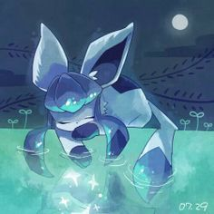 I guess this counts haha I cinta Glaceon from Pokemon