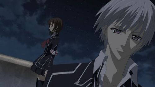 Zero from Vampire knight. Well he always ignores her because he tries to protect her...? but still it's kinda mean.