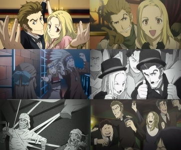 Isaac Dian and Miria Harvent from Baccano! definitely.