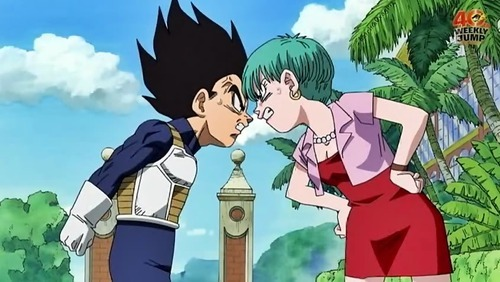 I choose bulma and vegeta!