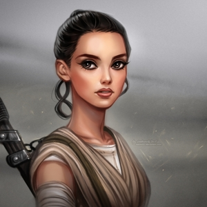 Just Rey from the new ngôi sao Wars looking badarse, as Rey always does.