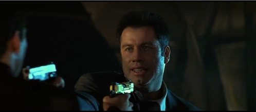 John with a gun at gun point :)