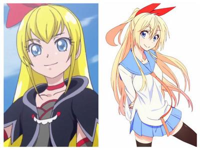 Regina from DokiDoki and Chitoge from Nisekoi