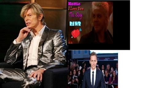 David bowie <3 Kiefer Sutherland <3 and Tom Hiddleston <3