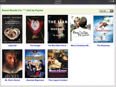 Putlocker has a lot for free (no download или account required). The only bad thing is every time Ты try to click something, an ad comes up. But once Ты get through that, Ты can watch any movie in good quality Link: http://putlocker.is/search/advanced_search.php?section=0&q=&director=&actor=David+Bowie&year_from=Year&year_to=Year&genre%5B%5D=All