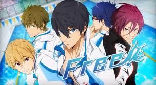 If she likes an anime with cute/hot shirtless guys with a really good storyline that will make you have feels. She should watch Free! there are 2 seasons with 13 episodes each the first season is called: 