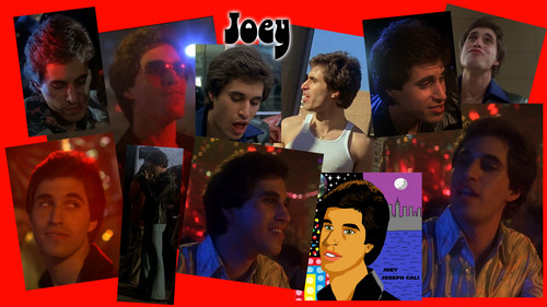 A collage of Joey with his name on it <33333