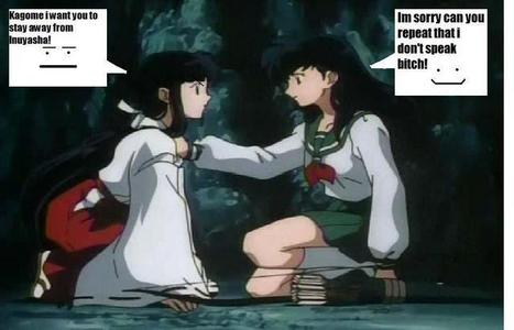 "Okay it's about to get real I love Inuyasha it's the best anime ever created and I am serious about this issue. Kagome IS BETTER! I don't totally hate Kikyo but she always acts high and mighty ""oh it's the greater good if Kohaku dies."" What if it was Inuyasha?! And second people say Kagome is annoying and a cry baby but wouldn't you be a little grumpy if the adorable Inuyasha kept running of with Kikyo's dead ass? I mean she stays with him but he doesn't try to spare her feelings and not go! Wouldn't you be pissed if you're boyfriend kept going off to see his ex! He probably get cussed out and broke up with but Kagome loves him enough to stay, would Kikyo do that? NO! Oh she tragic yeah I understand but Inuyasha didn't get all kill crazy or act sorrowful and all pitiful did he know he wasn't an idiot! She did get better towards the end but still Kagome is better. And what really pisses me off is how people always say we'll Kikyo's more powerful Kagome's weak. Kikyo probably trained her whole life Kagome just had to magically learn I think she did great. She also till the very end of the series had  a seal on her powers!    KAGOME RULES!😨"