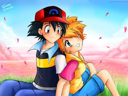 Its obviously [b] Misty [/b] !!!  She was Ash's first companion. Ash cried when she left. Ash's pokemons were the friendliest with her, comparing to the other girls. Ash blushed when he saw her in a kimono. Plus, they look so sweeet together!
