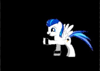 Name: Lightning strike Cutiemark: lightning Storm Skin color: white (like rarity's skin color) Mane and tail color: blue and cyan Accessories: two wristband Job: wonderbolt Color eyes: blue