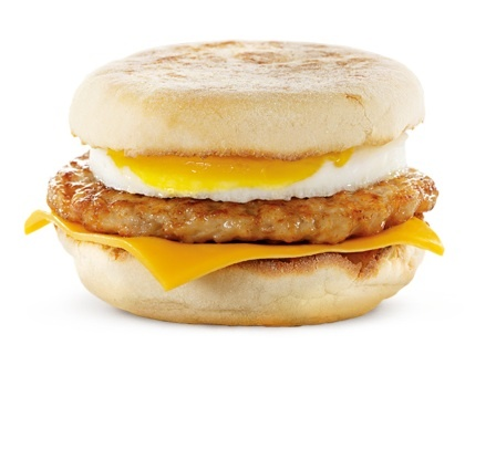 Egg sausage McMuffin with chesse!!