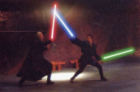 """His duel with Count Dooku. """"You're gonna pay for all the Jedi wewe killed today, Dooku"""" <3"""