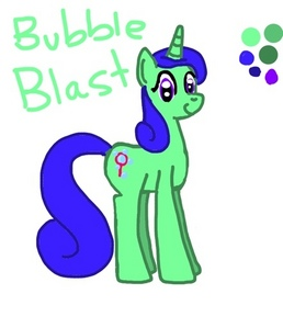A few years ago I made a pony OC for myself named Bubble Blast